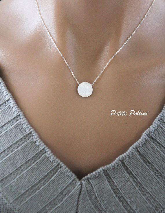 Gold Disc Bracelet in Silver/ Gold. Simple by PolliniAtelier