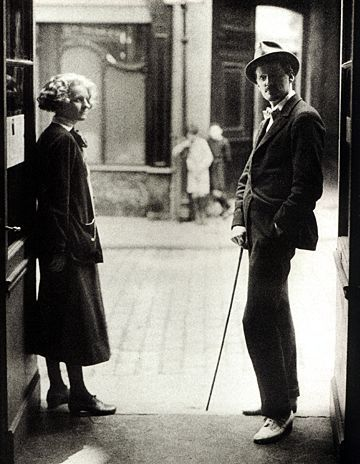 Paris, 1920. James Joyce and Sylvia Beach.