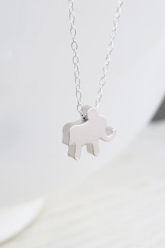 Silver necklace Silver elephant necklace Sterling by HLcollection