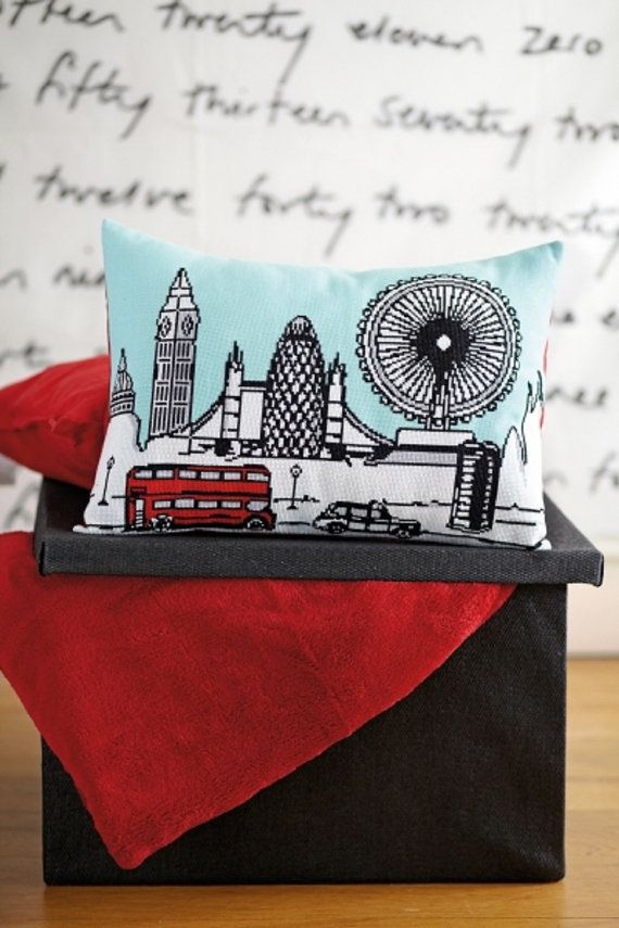 LONDON SKYLINE  cross stitch pattern diy by anetteeriksson on Etsy, $7.50