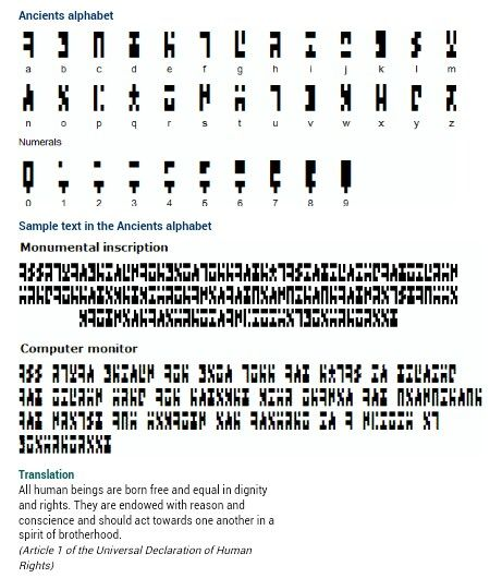 Stargate Atlantis Ancient's alphabet. If this is the real thing then I need to start writing