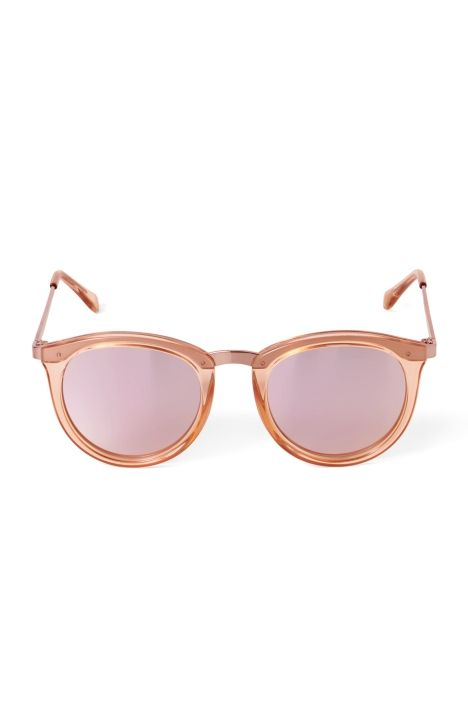Weekday No Smirking Sunglasses in Orange Reddish Light