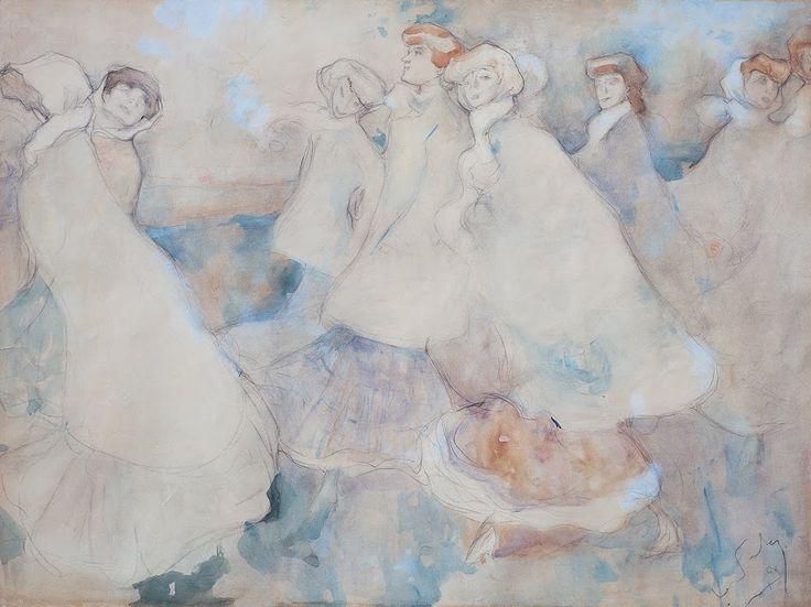 Ugo Valeri (1873–1911) . Figure veneziane. About 1904 . Galleria d'Arte Moderna Achille Forti