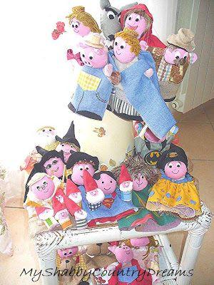 marionette delle favole facili da realizzare... un modo originale per raccontare le favole ai nostri bimbi!!