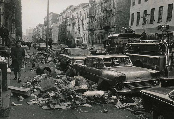 New York City during the 1968 Garbage Strike. by... - Historical Times