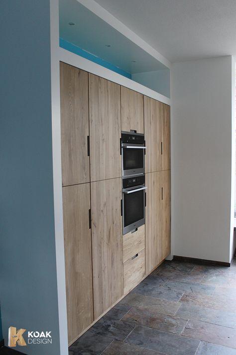 Ikea Kitchen projects with Koak Design Hoge kast met oven op ooghoogte