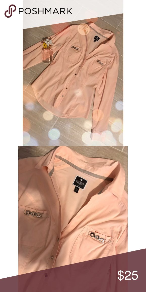 Express Button Down 🎀 NWOT   Light Pink   No Trades   Use Offer Button   Pair with leggings and a white tank or jeans and flats 💕 Express Tops Button Down Shirts