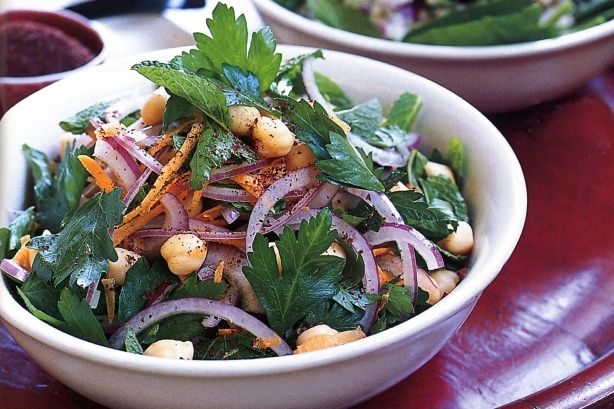 The flavour and aroma of mint and parsley make this colourful salad a delight to all the senses.