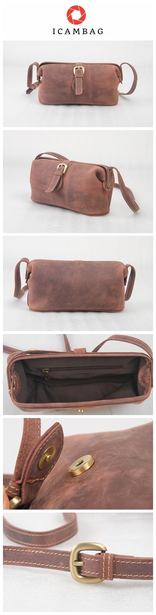 Genuine leather bag fashion crazy horse single shoulder bag slant cross-bag vintage commuter bag  503