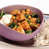 Recept - Kip tandoori met kikkererwten en spinazie - Allerhande