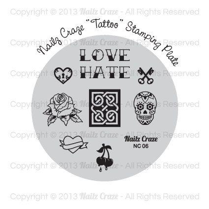 Nailz Craze NC06 Stamping Plate by NailzCraze on Etsy, $7.00