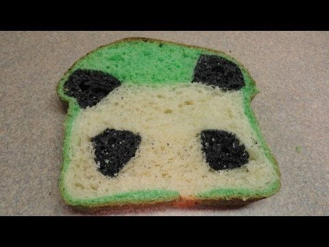 How to bake a bread loaf with a cute little panda hiding inside!    Thanks to you tuber paperbridgeblablahs who mentioned in a comment that she made panda bread, I googled it and fell in love immediately. :)  It is a little weird eating green bread but you can only taste bread, and a very nice bread at that!    Found the bread recipe I used and instr...