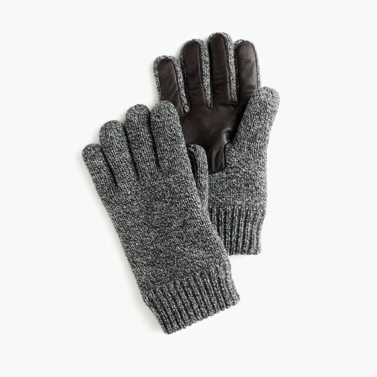 J.Crew - Wool smartphone gloves Grey