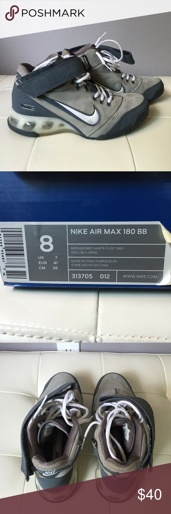 Nike Air Max 180 Gray Basketball Great condition, men's Nike Air Max 180 basketball shoes. Will come with box. Nike Shoes