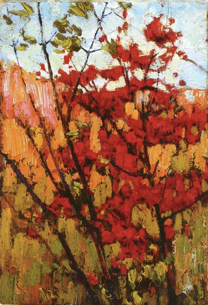 The Athenaeum - Soft Maple in Autumn (Tom Thomson - )