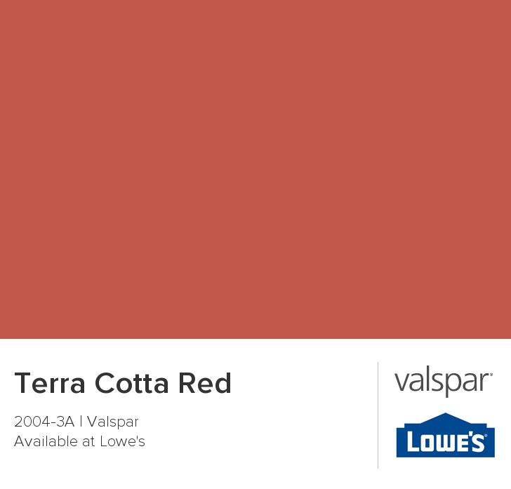 Terra Cotta Red From Valspar  Paint Colors  Pinterest  Front Doors Colors