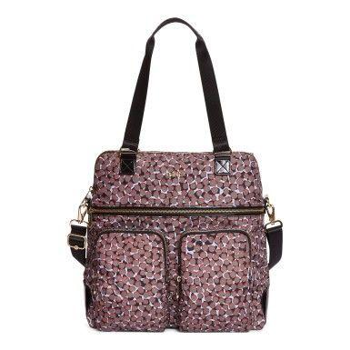Camryn Printed Laptop Handbag - Graphic Animal Brown