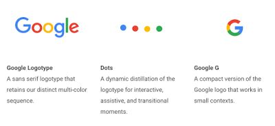 The new design keeps Google's primary color theme but switches to a sans-serif typeface.