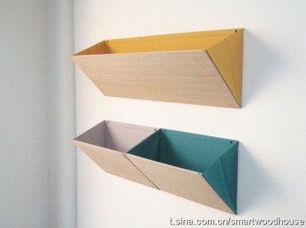Cardboard wall pockets - simple to make.