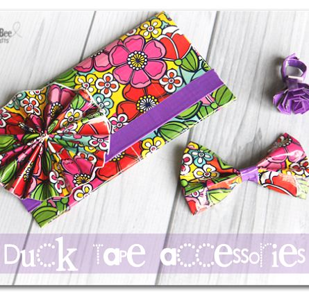 How to make a clutch and flowers and bow out of duct tape from duck tape - the possibilities are endless on this one!