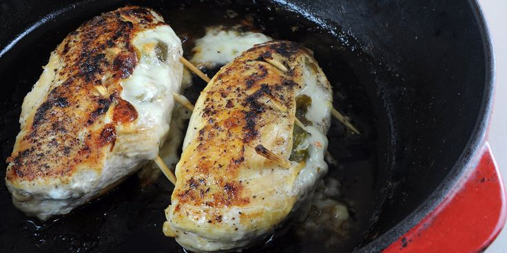 Breast of Chicken Chili Relleno Recipe:  The chicken chili relleno is a perfect blend of chili and moist tender chicken.  Great alternative to every day chicken breasts.