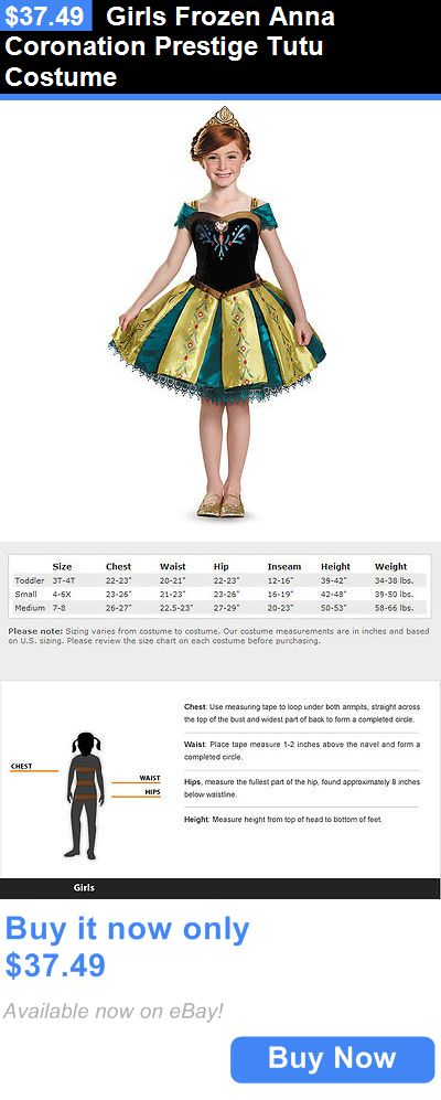 Halloween Costumes Kids: Girls Frozen Anna Coronation Prestige Tutu Costume BUY IT NOW ONLY: $37.49