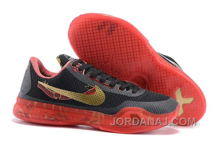 "Return of the king Nike Kobe 10 ""Bright Crimson"" Black/Red/Gold X Outlet"