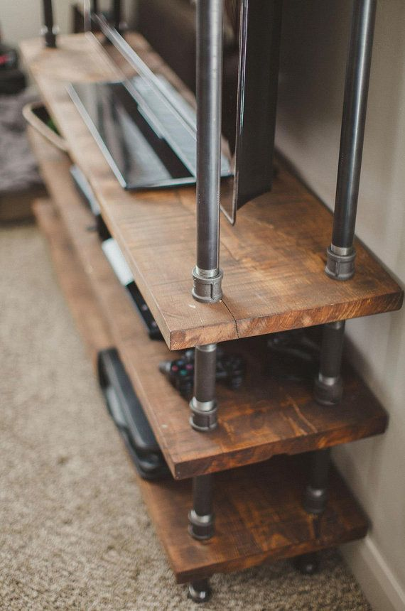 Best 20 industrial tv stand ideas on pinterest for Diy pallet tv stand instructions