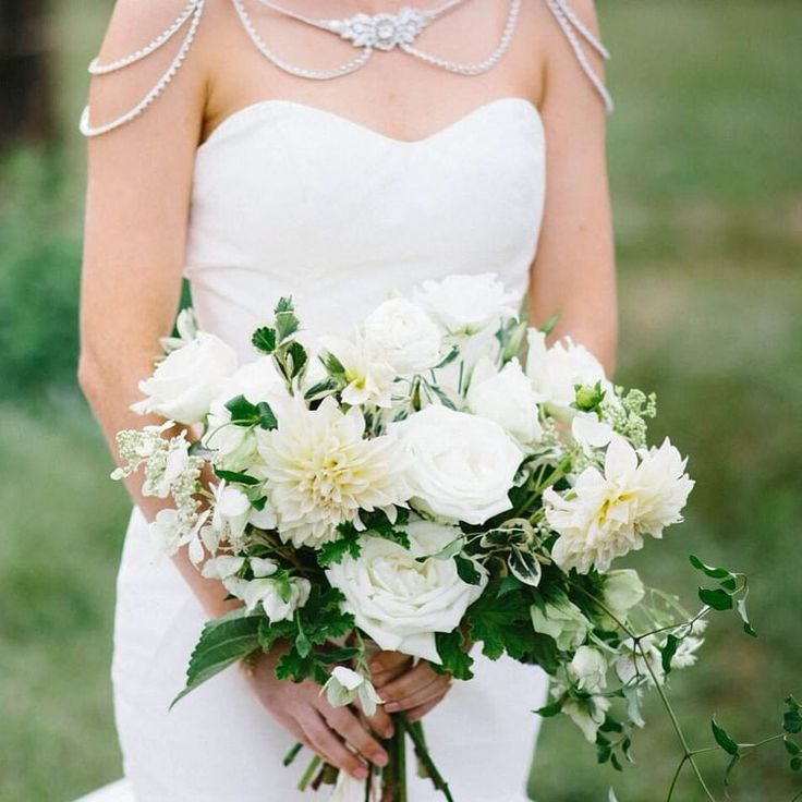 Kentucky Wedding Bridal Bouquet With Classic Natural Green