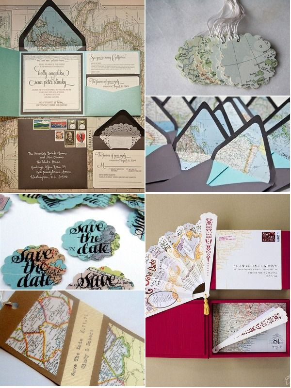 invitations with maps