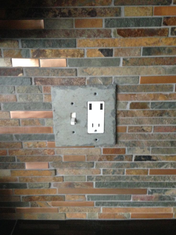 how to cut stone tile around outlets