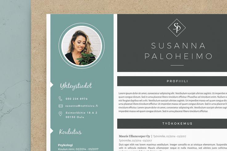 Visuaalinen CV pohja - Susanna