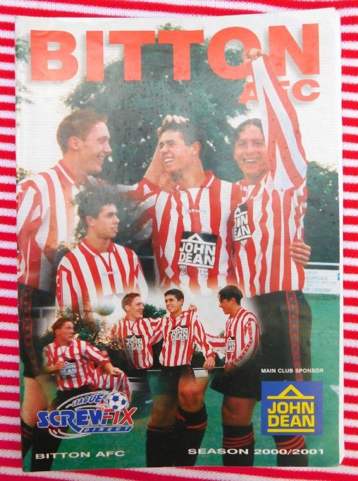Vintage Football programme Bitton AFC v Torrington Screwfix Direct League 25 11