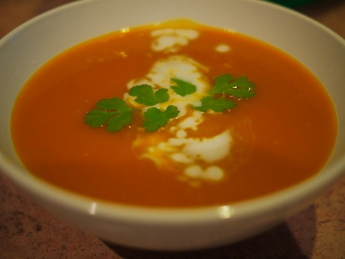 Kate's spicy pumpkin soup