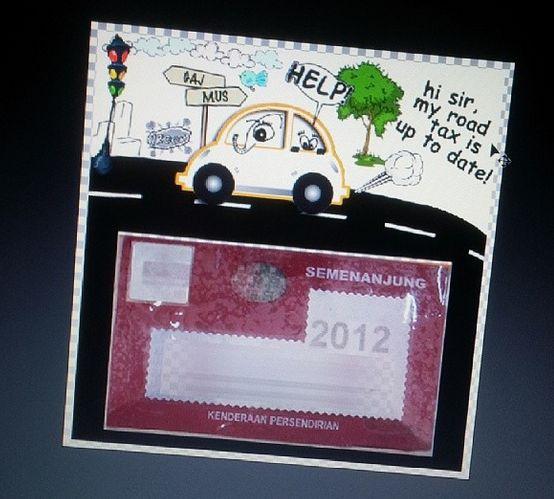 Custom made car sticker custom made sticker kereta