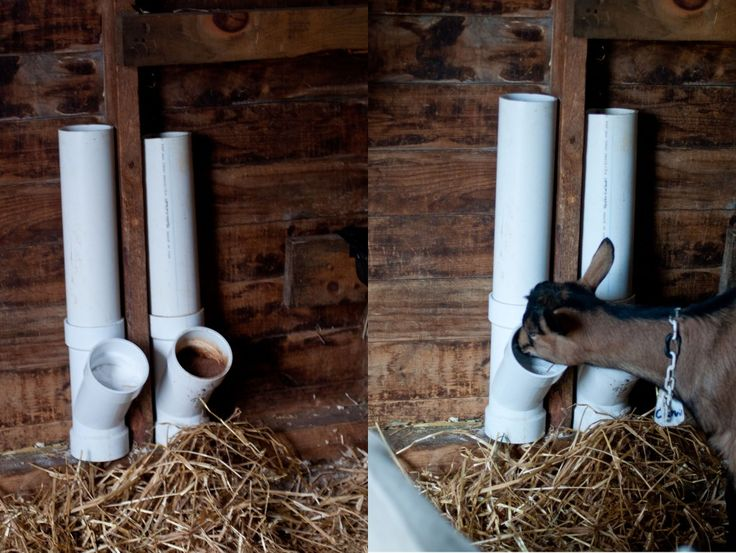 Homemade Goat Feeders The Occasional Jumper Hay