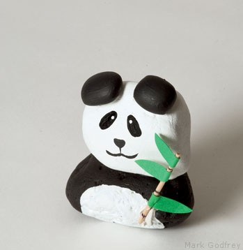 Rock sculpture panda