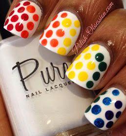 Polish Obsession: #BusyGirlNails Spring Nail Art Challenge - Rainbow