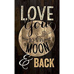P. Graham Dunn ''Love You to the Moon and Back'' 15'' x 9'' Distressed Plank Wall Plaque