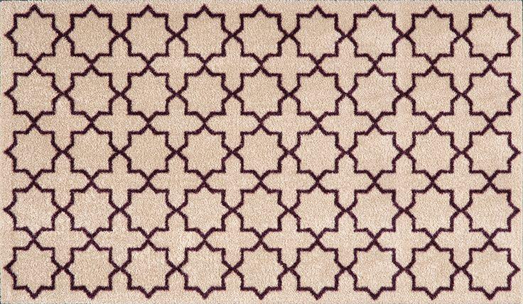 Patterned Floor Mat | Entry Floor Mats | Trellis Floor Mats | Stylish Floor Mats | Studio 67 Floor Mats | Non-Skid Floor Mats | Designer Floor Mats | Trellis Design | Trellis Pattern | Brown Pattern Floor Mat | Contemporary Design | Neutral Floor Mat | Neutral Pattern
