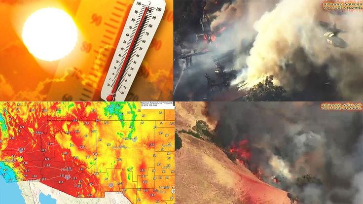 Record Breaking Heat and Extremely High Temperature Causing Wildfires in...