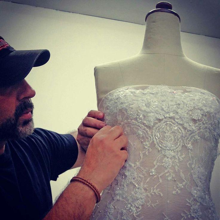 designer Yan Pothin working on details  @somadesign.com.au