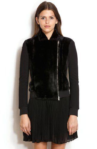 Armani Exchange Womens Faux Fur Biker Jacket A|X Armani Exchange,FASHION INSPIRATION to buy just click on amazon here http://www.amazon.com/dp/B00FLDG20I/ref=cm_sw_r_pi_dp_tEzysb1V0Z9W3C4H