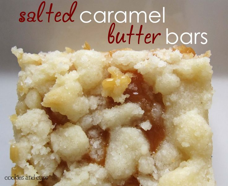 Salted Caramel Butter Bars. I Made These and They Are AWESOME!! Everyone Wanted the Recipe