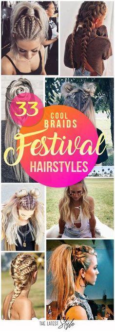 Nicht nur für Festivals! Flechten macht Spaß - vor allem, wenn es zum Schluss so toll aussieht! Probier doch selbst mal etwas aus! Cool Braids Festival Hairstyles / Festival Frisuren / Flechtfrisuren / Braided Hairstyles | Stylefeed