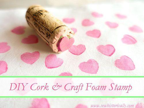 DIY Cork & Craft Foam Stamp