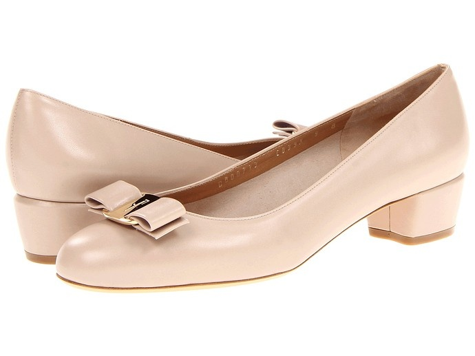 Low-heeled pumps are our spring obsession, and who does them better than Ferragamo?