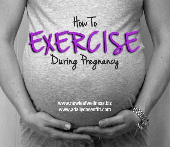 How to exercise safely during pregnancy.  Plus the best/worst exercises to do while pregnant.