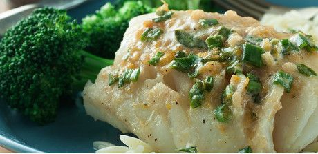 Baked Fish Fillets with a Ginger Citrus Butter