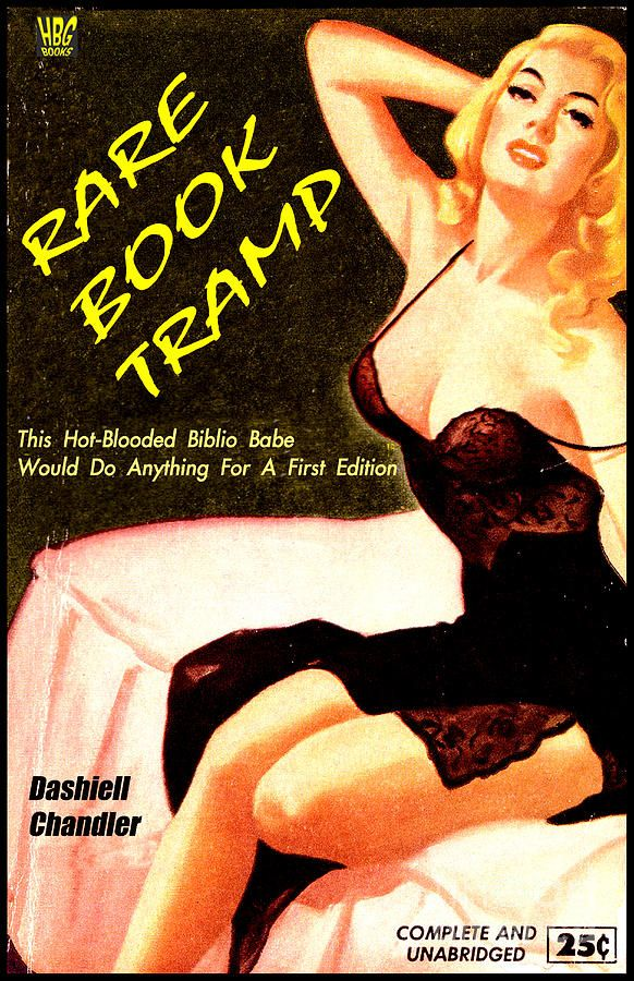 Rare Book Tramp Digital Art  - Rare Book Tramp Fine Art Print: Pulp Art, Books Galleries, Books Tramp I, Biblio Babes, Art Prints, Digital Art, Fine Art, Pulp Fiction, Rare Books